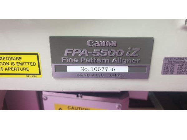 Canon-FPA-5500iZ-350nm,-i-Line-Stepper