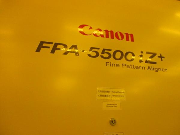 Canon-FPA-5500iZ+-350nm,-i-Line-Stepper